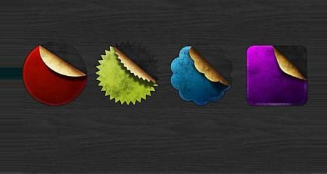 Medallas PSD con diferentes estilos y colores