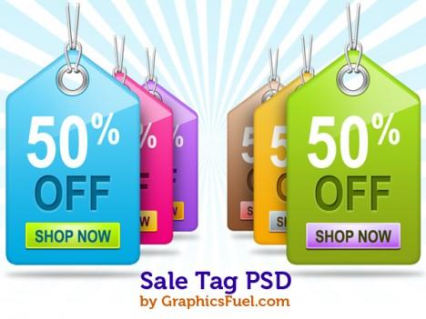 Plantilla PSD de oferta o etiqueta de descuento