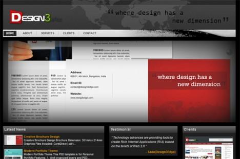 Plantilla HTML oscura y profesional en PSD para Photoshop