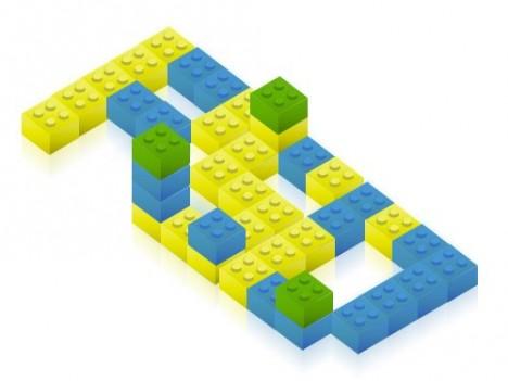 Plantilla de bloques de lego para Photoshop PSD
