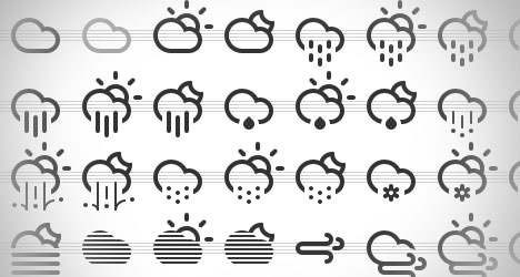 Plantilla con Iconos de Clima para Descargar Gratis