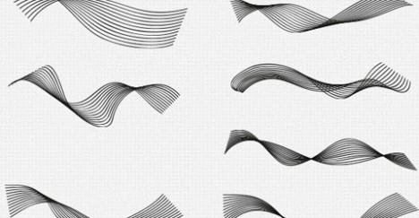 Plantilla de Pinceles con Ondas para Photoshop gratis PSD