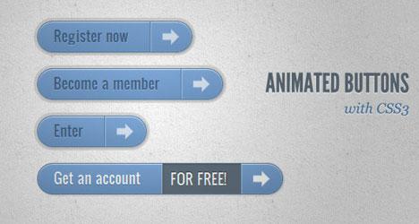Plantilla de botones CSS3 animados